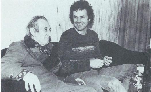 Walter Mehring und Walter Stapper, der Manuela Mühlethaler zur Lektüre Mehrings inspirierte, 1977