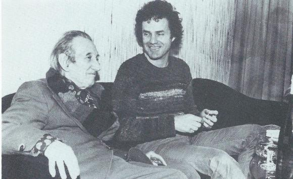 Walter Mehring und Walter Stapper 1977