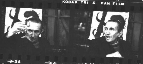 """Walter Mehring in der """"Kronenhalle"""" 1973. Fotos: Bruno und Eric Bührer"""