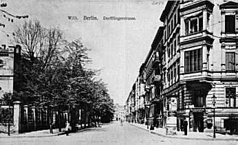 Derfflingerstraße, von der Kurfürstenstraße aus gesehen (Aufnahme wahrscheinlich vor 1918) ; Quelle: www.luise-berlin.de