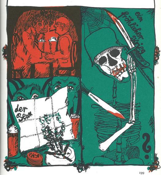 """Illustration von Günther Stiller zur Ballade """"Verrat militärischer Geheimnisse"""""""