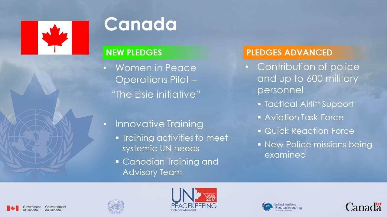 Pledges Peacekeeping Vancouver Ministerial Canada unpkdm pledges en Accessed 2Dec2017