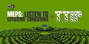 MEPs listen - TTIP graphic