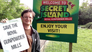Dave Plummer at the Royal Gunpowder Mills site.