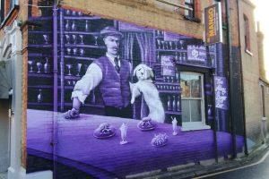 The Abbey Burger Bar mural