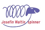 A logo with a sheep and the text Josefin Waltin spinner