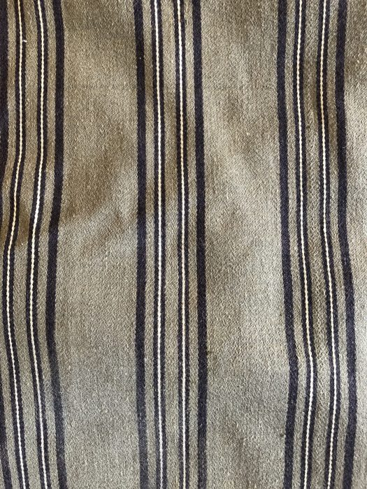 A piece of textile with stripes