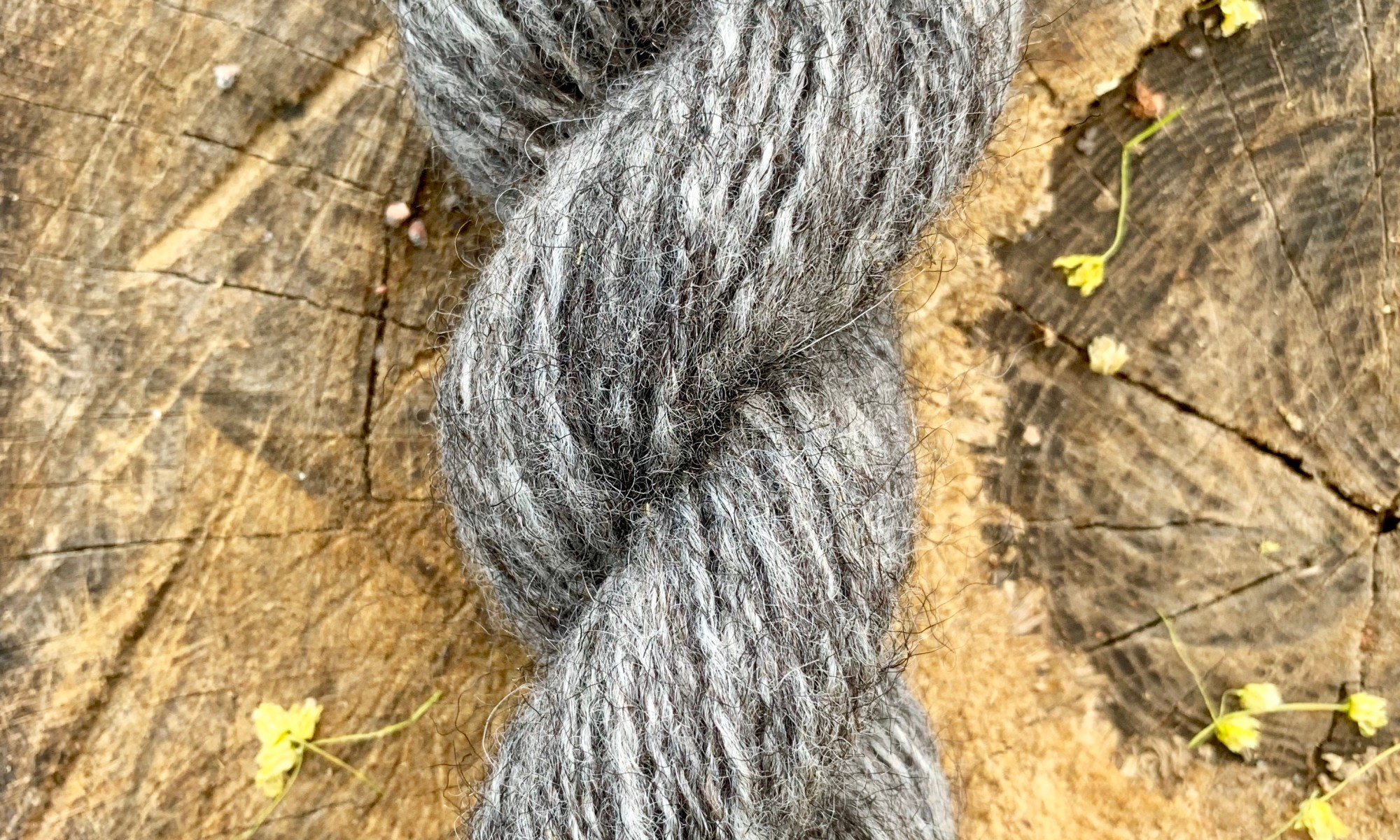 2-ply yarn of Gute wool, spun with longdraw from hand-carded rolags.