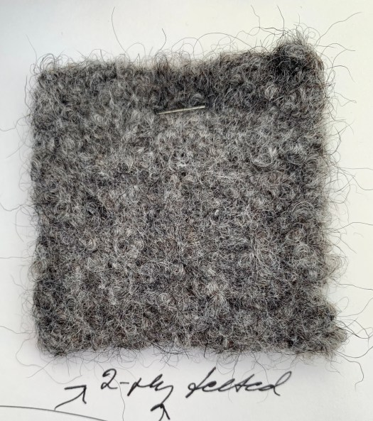 A woven and felted swatch from Gute wool.