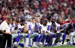 NFL players protest during the national anthem