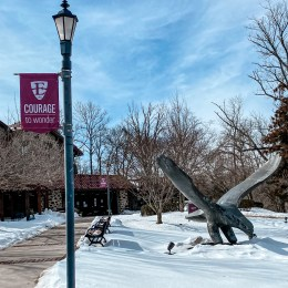 Winter Wonderland: Students find creative ways to enjoy the snow this semester.