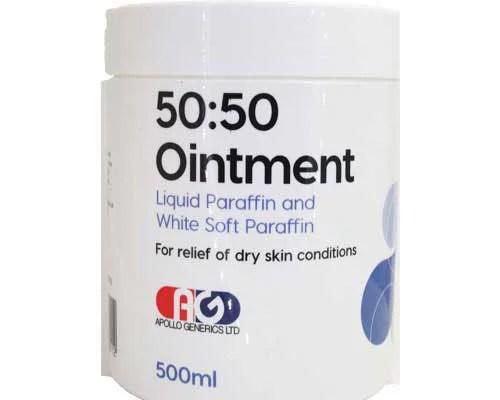 50 50 white soft paraffin