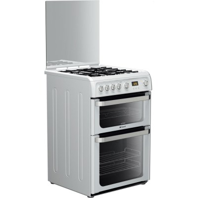 HOTPOINT HUG61P 60cm Gas Cooker – White