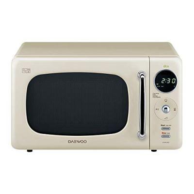 Daewoo KOR9LBKCR 20L 800W Freestanding Microwave With Eco Zero Standby, Cream