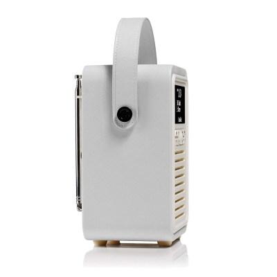 VQ Retro Mini DAB/FM Digital Bluetooth Radio – Light Grey