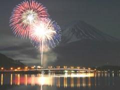 河口湖冬花火2017は富士山との共演!期間・おすすめスポット・混雑は?