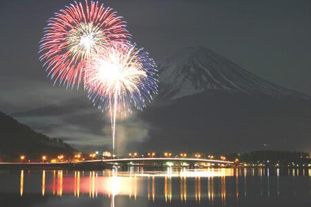 河口湖冬花火2018は富士山との共演!開催期間とおすすめスポットは?