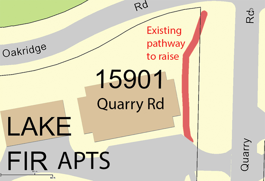 Quarry pathway bid map