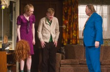 Domhnall Gleeson as Blake, Brian Gleeson as Sean and Brendan Gleeson as Dinny in The Walworth Farce by Enda Walsh, directed by Sean Foley and produced by Landmark Productions. Photo: Patrick Redmond