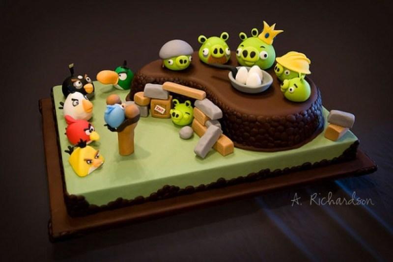 game angry bird cake