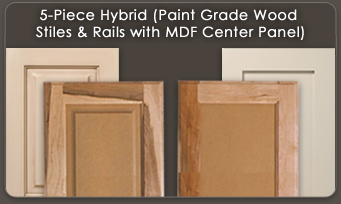 5 Piece Hybrid Paint Grade Wood Stiles Rails With Mdf An Center Panel