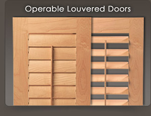 Custom Louvered Doors Amp Wood Shutters For Cabinets And