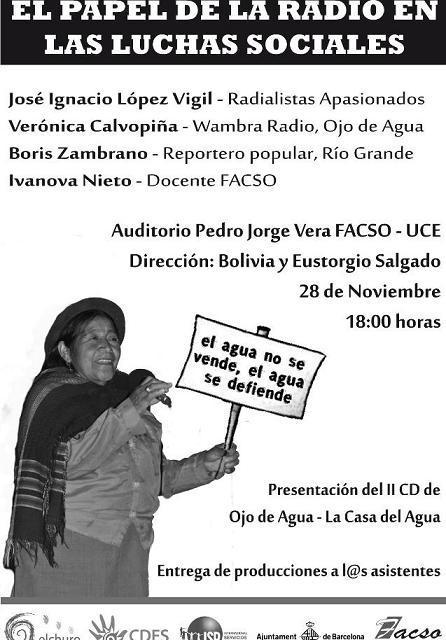 Foro: El papel de la radio en las luchas sociales