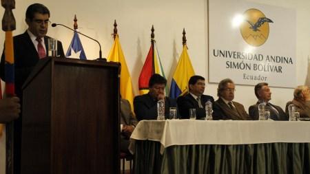 Posesión de Cesar Montaño como nuevo Rector de la Universidad Andina Simón Bolivar, sede Quito