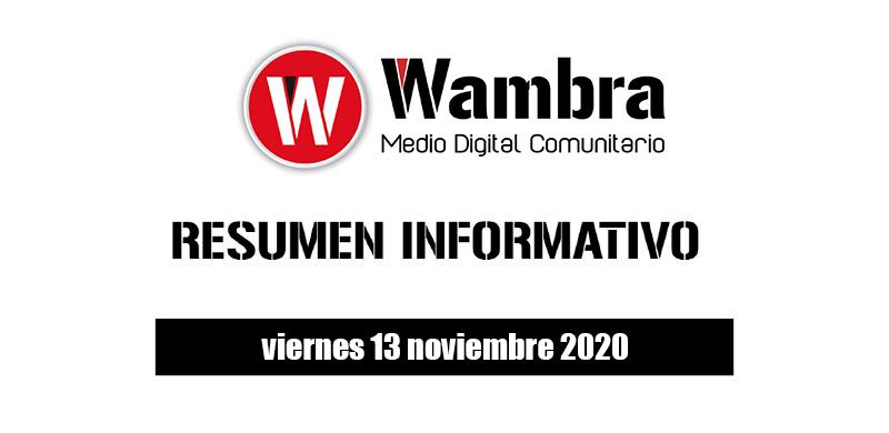 Resumen 13 noviembre 2020