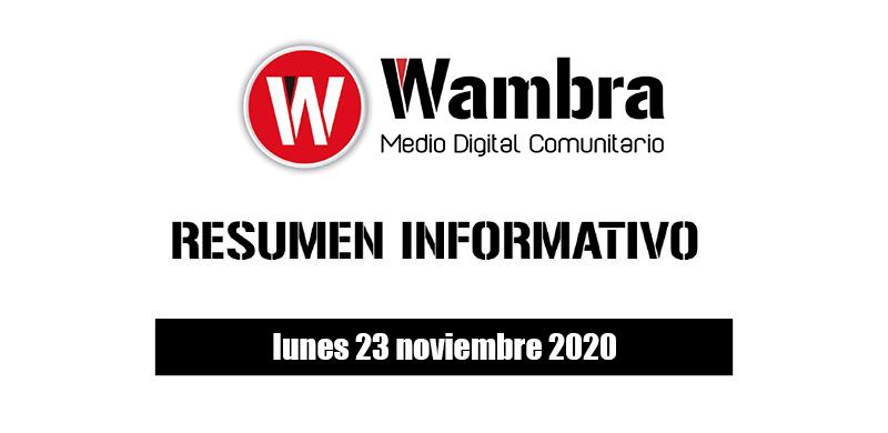 Resumen 23 noviembre 2020
