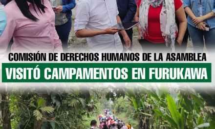 Comisión de Derechos Humanos de la Asamblea Nacional visitó campamentos en Furukawa