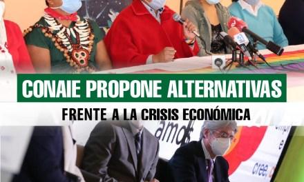 CONAIE propone alternativas frente a la crisis económica