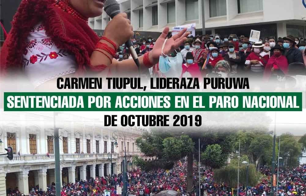 Carmen Tiupul, lideraza puruwá, sentenciada por acciones en el Levantamiento de Octubre 2019