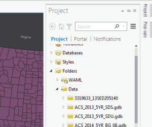 Figure 4. The Project Pane is accessible via the vertical tab on the right side of the application.