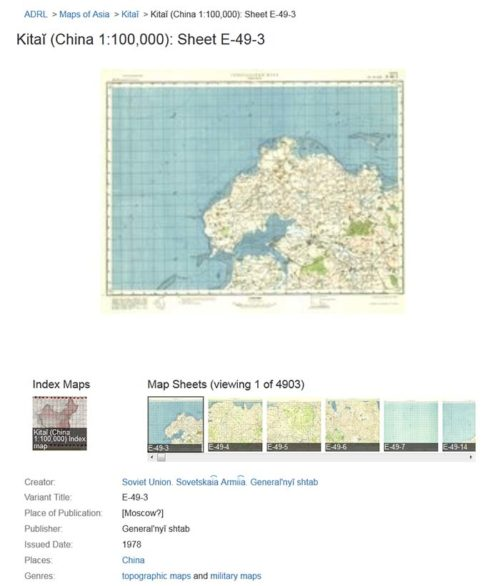 Figure 10: The individual map's display page.