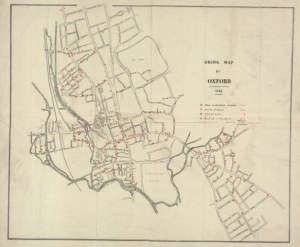 The Drink Map of Oxford from 1883