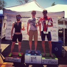 Tri-tech Elite and WAM Partner to get 1st (Craig Mitchell) and 3rd (Spencer Coffin) at the 2014 Season Opener triathlon.