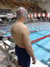 The man on a mission! Paul Arsenault at 2015 NELMSC SCY Champs