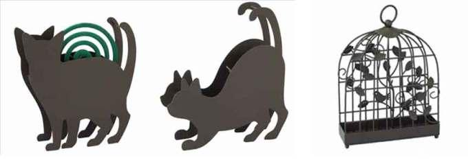 猫ポーズの蚊取り線香