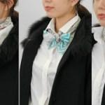 いつものシャツスタイルをワンランクアップするスカーフの結び方♡Vol.2