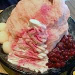 ICE MONSTER(アイスモンスター)の「桜ミルクかき氷」で食べるお花見?