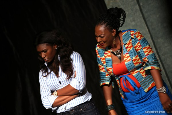 Ufoma Ejenobor McDermott and Tina Mba performing my piece titiled confrontation