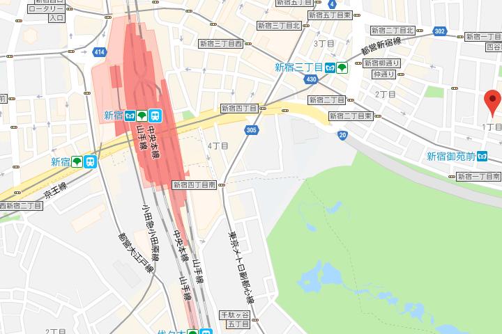 02-toyoko-inn-tokyo-shinjuku-gyoemmae-eki-3-ban-deguchi-map