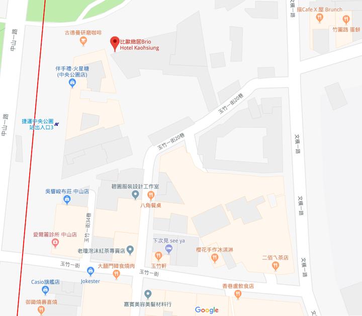 brio-hotel-kaohsiung-map