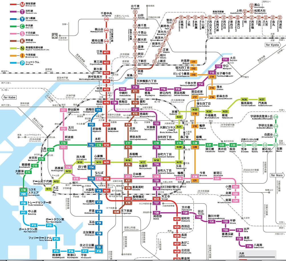 osaka-subway-map-chinese-pic