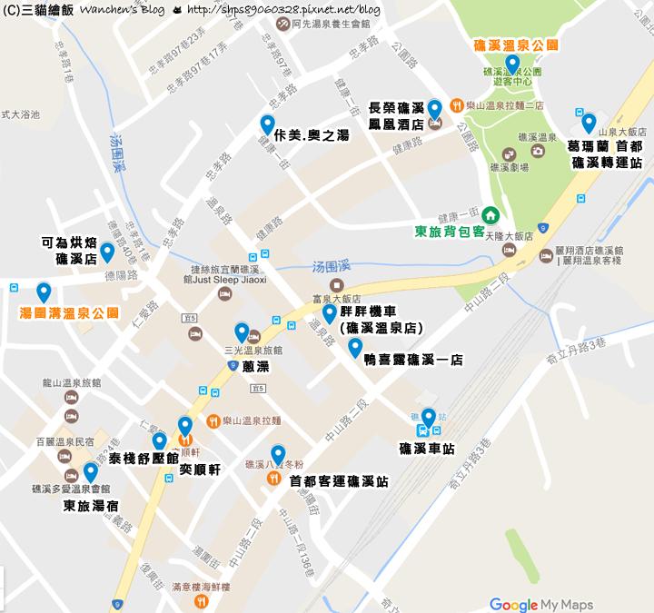 East Hostel Map