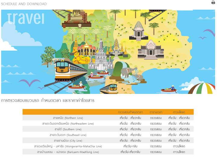 railway timetable