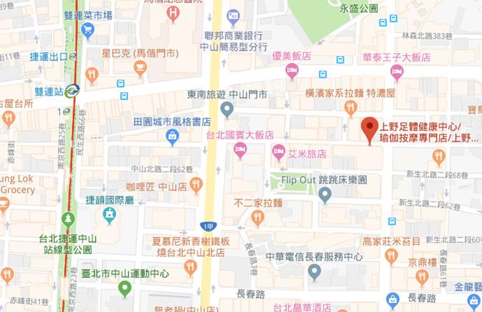 taipei-ueno-massage-day-map