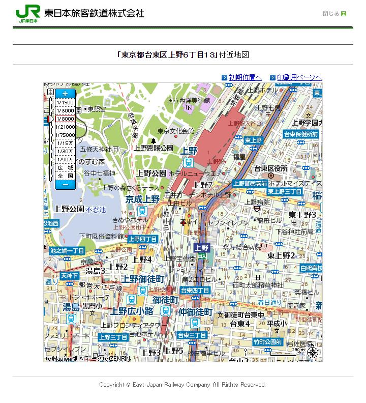 ueno-station-jreast-map