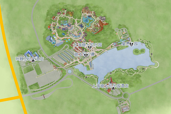 shanghaidisneyresort-map